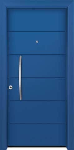 Θωρακισμένη πόρτα με πρεσσαριστή επένδυση αλουμινίου Θ-250