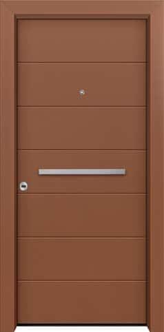 Θωρακισμένη πόρτα με πρεσσαριστή επένδυση αλουμινίου Θ-260
