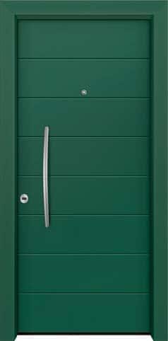 Θωρακισμένη πόρτα με πρεσσαριστή επένδυση αλουμινίου Θ-270