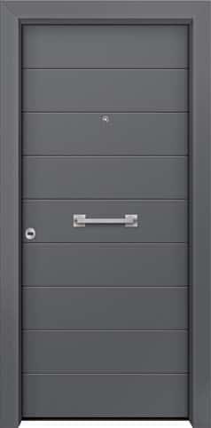 Θωρακισμένη πόρτα με πρεσσαριστή επένδυση αλουμινίου Θ-280