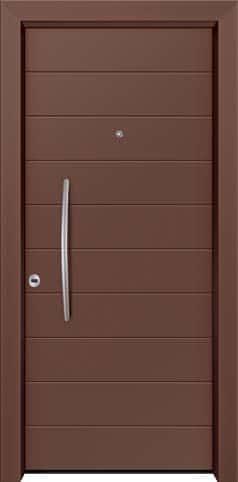 Θωρακισμένη πόρτα με πρεσσαριστή επένδυση αλουμινίου Θ-290