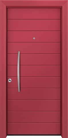 Θωρακισμένη πόρτα με πρεσσαριστή επένδυση αλουμινίου Θ-300