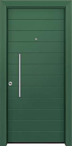 Θωρακισμένη πόρτα με πρεσσαριστή επένδυση αλουμινίου Θ-310