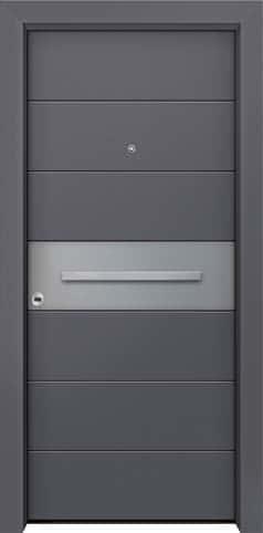 Θωρακισμένη πόρτα με πρεσσαριστή επένδυση αλουμινίου Θ-320
