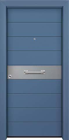 Θωρακισμένη πόρτα με πρεσσαριστή επένδυση αλουμινίου Θ-330