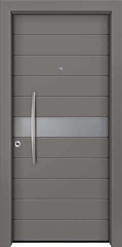 Θωρακισμένη πόρτα με πρεσσαριστή επένδυση αλουμινίου Θ-340