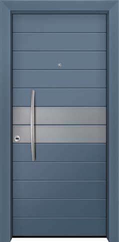 Θωρακισμένη πόρτα με πρεσσαριστή επένδυση αλουμινίου Θ-350