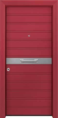 Θωρακισμένη πόρτα με πρεσσαριστή επένδυση αλουμινίου Θ-370