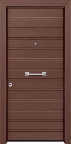 Θωρακισμένη πόρτα με πρεσσαριστή επένδυση αλουμινίου Θ-380