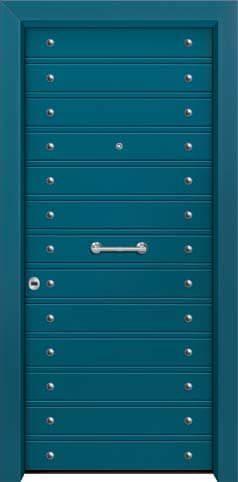 Θωρακισμένη πόρτα με πρεσσαριστή επένδυση αλουμινίου Θ-390