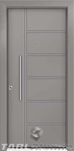 Θωρακισμένη πόρτα με πρεσσαριστή επένδυση αλουμινίου Θ-400