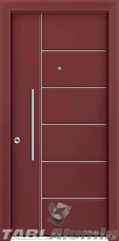 Θωρακισμένη πόρτα με πρεσσαριστή επένδυση αλουμινίου Θ-410