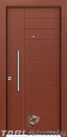 Θωρακισμένη πόρτα με πρεσσαριστή επένδυση αλουμινίου Θ-430