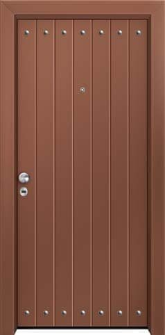Θωρακισμένη πόρτα με πρεσσαριστή επένδυση αλουμινίου Θ-440