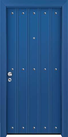 Θωρακισμένη πόρτα με πρεσσαριστή επένδυση αλουμινίου Θ-450