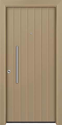 Θωρακισμένη πόρτα με πρεσσαριστή επένδυση αλουμινίου Θ-460
