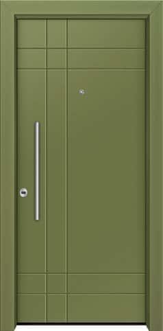 Θωρακισμένη πόρτα με πρεσσαριστή επένδυση αλουμινίου Θ-470