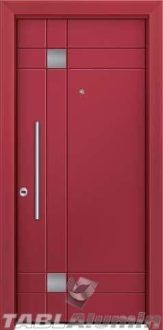 Θωρακισμένη πόρτα με πρεσσαριστή επένδυση αλουμινίου Θ-480