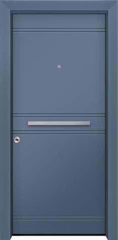 Θωρακισμένη πόρτα με πρεσσαριστή επένδυση αλουμινίου Θ-490