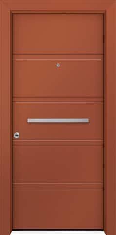 Θωρακισμένη πόρτα με πρεσσαριστή επένδυση αλουμινίου Θ-500