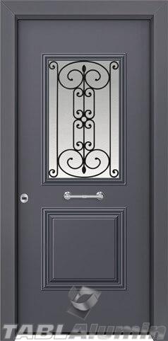 Θωρακισμένη πόρτα με τζάμι Θ-3030