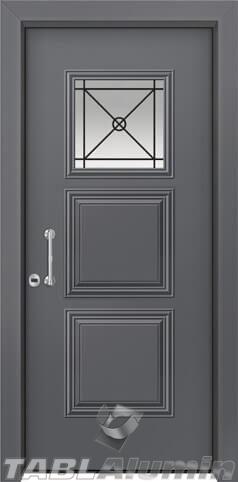 Θωρακισμένη πόρτα με τζάμι Θ-3080