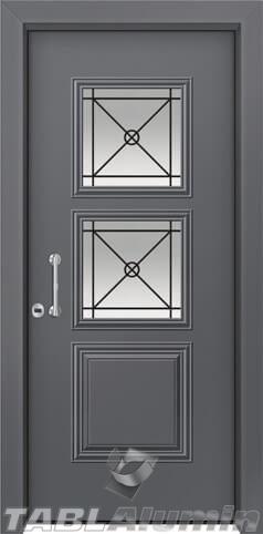 Θωρακισμένη πόρτα με τζάμι Θ-3090