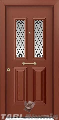 Θωρακισμένη πόρτα με τζάμι Θ-3140