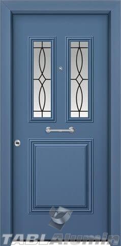 Θωρακισμένη πόρτα με τζάμι Θ-3160
