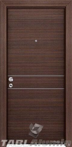 θωρακισμένη πόρτα με οριζόντιες inox ράβδοι ΘΠ-101