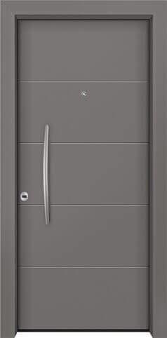 Θωρακισμένη πόρτα με πρεσσαριστή επένδυση αλουμινίου Θ-230