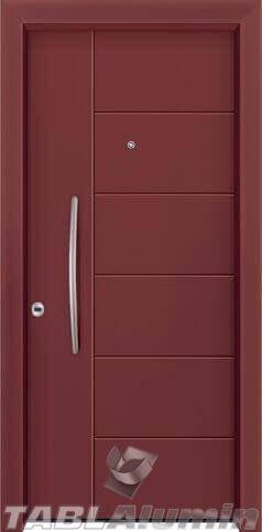Θωρακισμένη πόρτα με πρεσσαριστή επένδυση αλουμινίου Θ-240