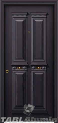 Θωρακισμένη Παραδοσιακή πόρτα αλουμινίου με χυτά διακοσμητικά ΘΠ-730