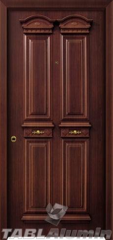Θωρακισμένη Παραδοσιακή πόρτα αλουμινίου με χυτά διακοσμητικά ΘΠ-740